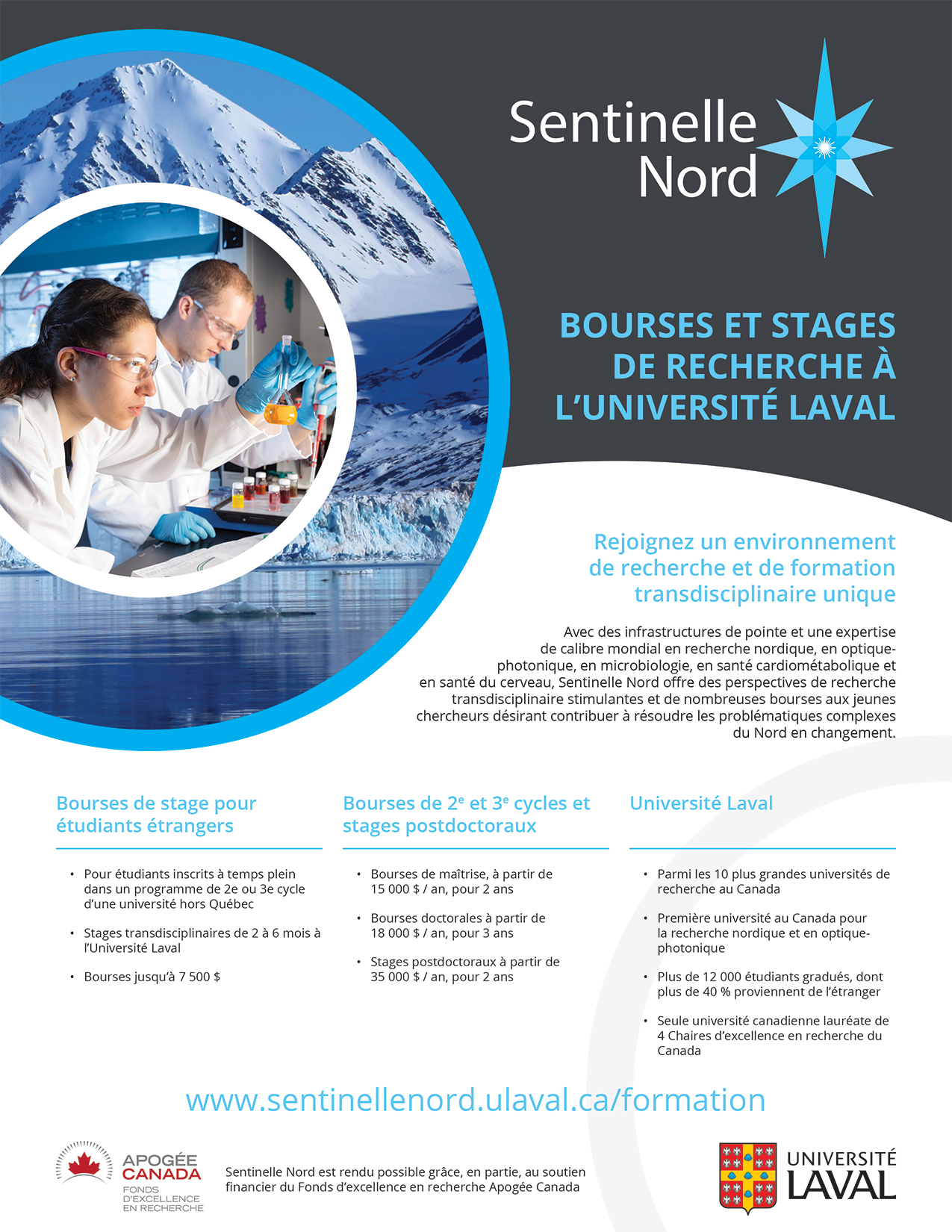 Sentinelle Nord - Affiche Bourses-stages - mars 2018