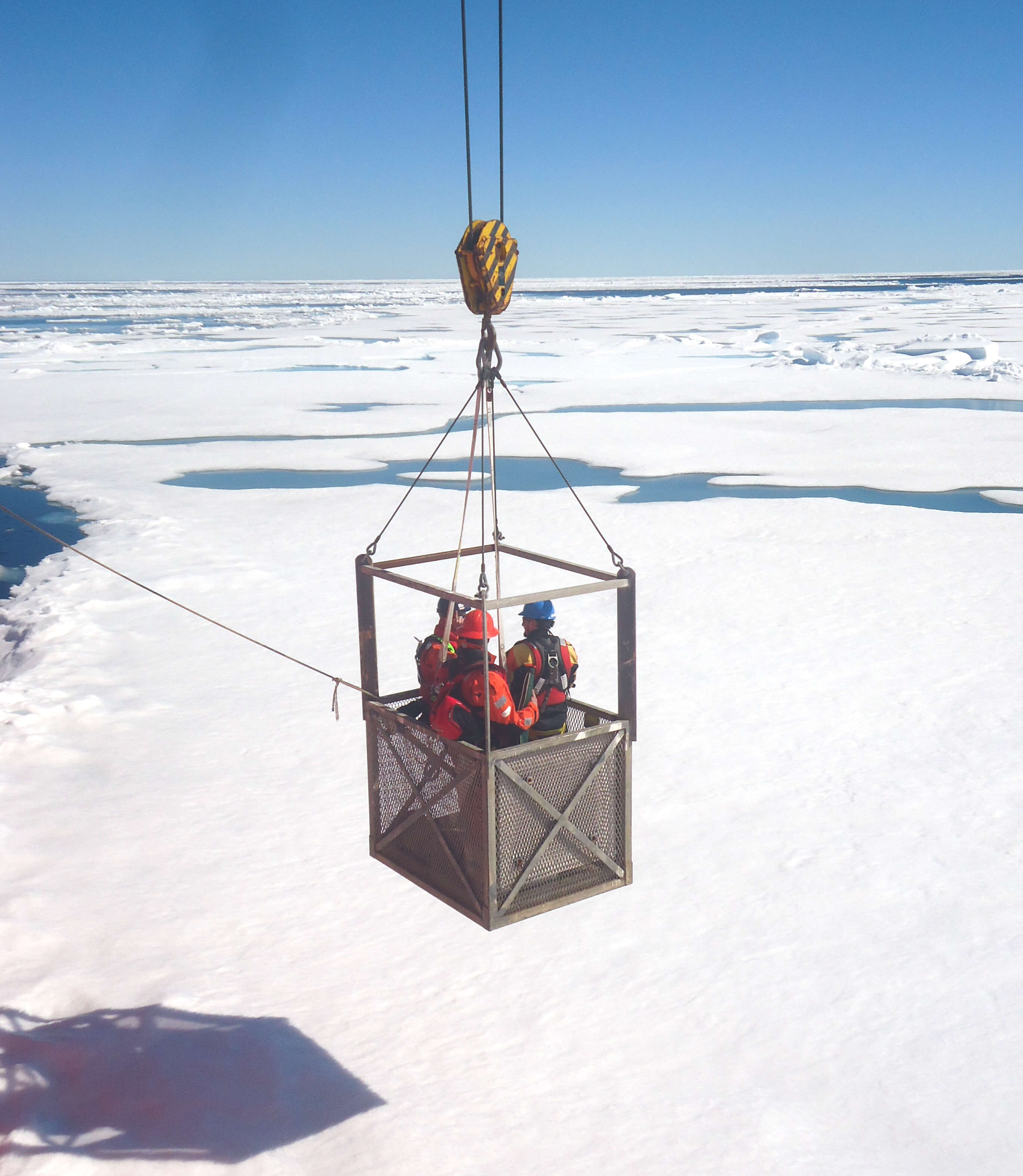 Science team going on sea ice - Sentinel North international phd school
